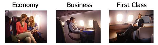 Qatar Airways Product Images