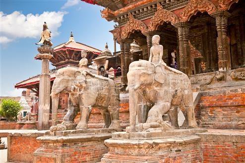 Temples at Durbar Sqaure in Patan, Lalitpur city, Nepal (Custom).jpg